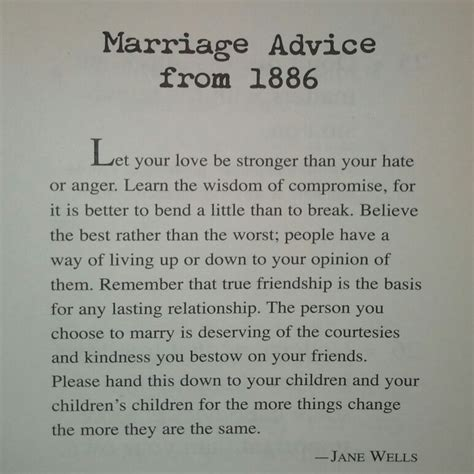 Wedding Wisdom Advice by Marriage Advice From 1886 Not Just Marriage Advice But
