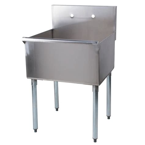 stainless steel utility sink regency 24 quot 16 gauge stainless steel one compartment