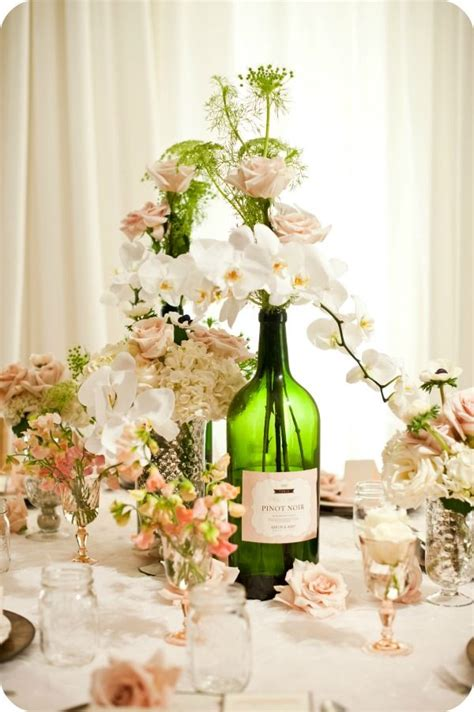 wine bottle centerpieces for weddings wine bottle centerpieces for wedding engaged now what photo shoots archives engagednowwhat