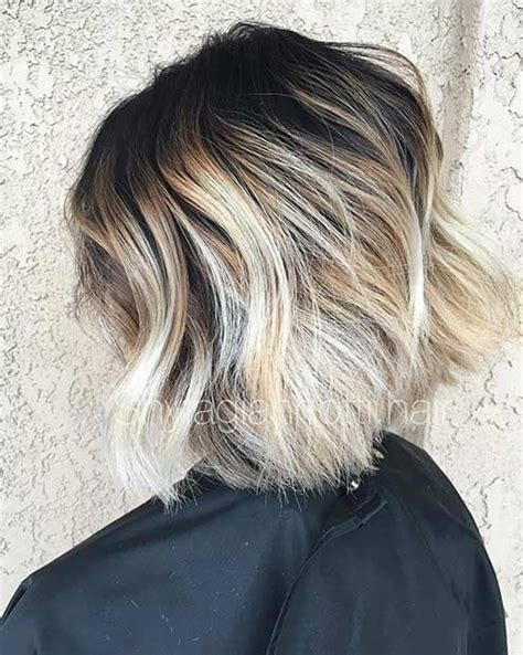 photos of blonde highlights with dark roots 31 cool balayage ideas for short hair dark roots blonde