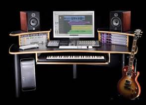 kk audio a1 edit desk black w lite edge sweetwater