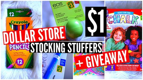 Inexpensive Christmas Giveaways - dollar store stocking stuffer ideas giveaway cheap christmas gifts youtube