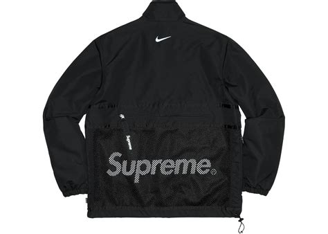supreme jacket supreme nike trail running jacket black