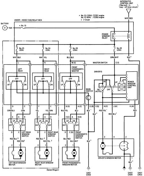 1996 honda civic ex window fuse location wiring diagrams