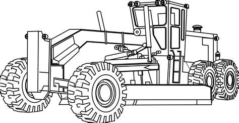 9 pics of free construction equipment coloring pages