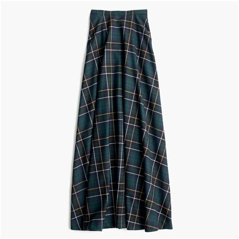 j crew collection maxi skirt in tartan in blue lyst