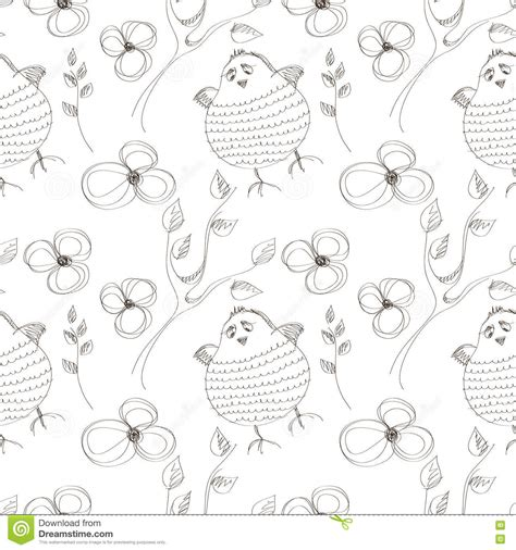 seamless pattern by hand seamless vector pattern with animals cute hand drawn