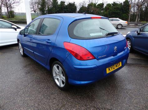 blue peugeot peugeot 308 1 6 sport hdi in metallic blue for sale
