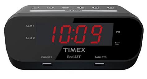 timex t129b rediset dual alarm clock with dual usb charging import it all