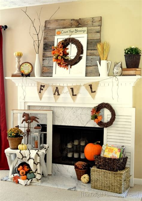 fall fireplace decor 39 beautiful fall mantel d 233 cor ideas digsdigs