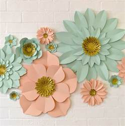 flower decorations handmade glitter centre paper flower wall display by may