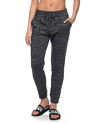 girls gray and black joggers pants grey joggers women with popular trend in ireland