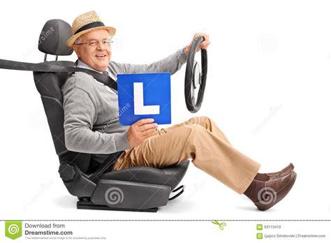 Holding L senior gentleman holding an l sign stock photo image
