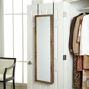 the door jewelry armoire with length mirror hsn