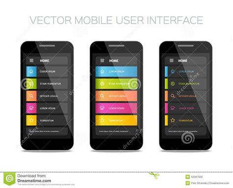mobile user interface design vector mobile user interface design stock vector image