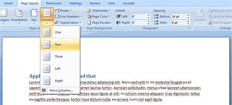 microsoft word two column layout techniques pdf ensuring correct tab and reading order in