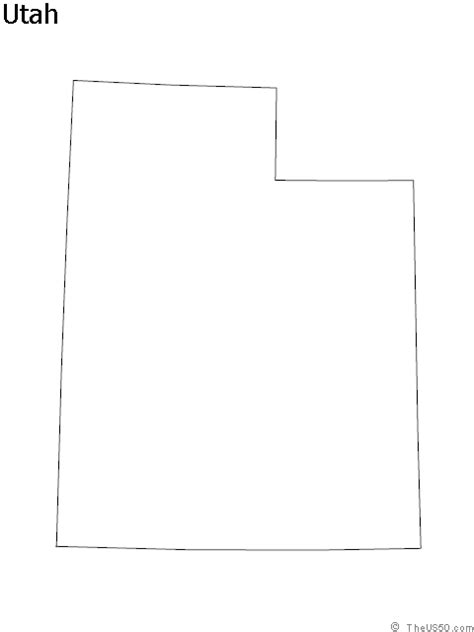 utah map coloring page utah state outline coloring sheet the us50 state