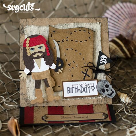 Pirate Birthday Card Pirate Easel Birthday Card And Ship Cupcake Stand By