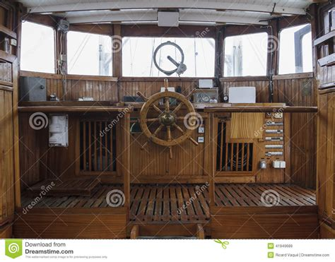 wheel house wheelhouse of and historic ship stock image image 41949689