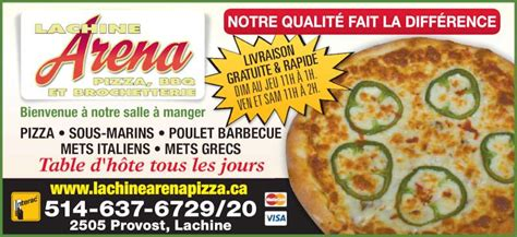 lachine arena pizza bar b q lachine qc 2505 rue