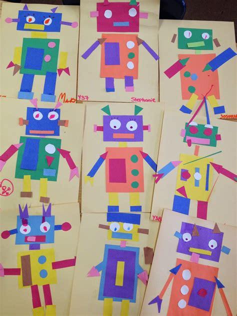 pattern planning year 1 ms c s artroom geometric robots art lesson