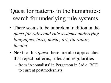 search pattern slide rule ppt the discovery of rule systems in the humanities