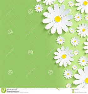 Wedding Backdrop Graphic Spring Green Nature Background With White Chamomiles Stock Vector Image 51805627