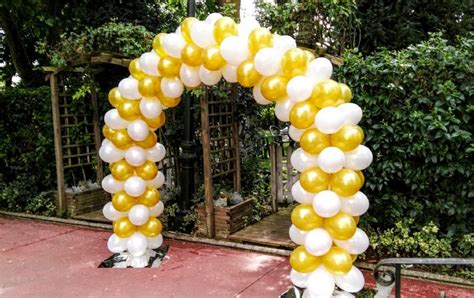 decoracion de iglesia para boda con globos arcos y decoraciones con globos para boda ll 225 manoos