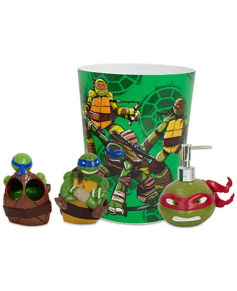 tmnt bathroom decor teenage mutant ninja turtles bath accessories collection