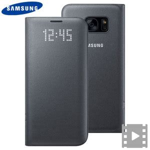 Samsung Galaxy S7 Official Led Flip Cover Casing Cover official samsung galaxy s7 edge led flip wallet cover black
