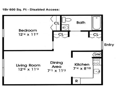 600 sf floor plans 600 sq ft home floor plans 600 sf home floor plans 600