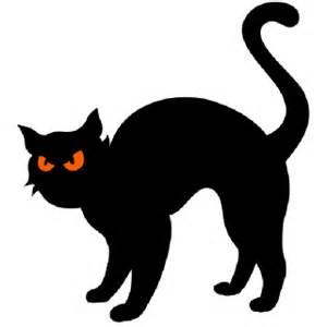 black halloween black cat cartoon images