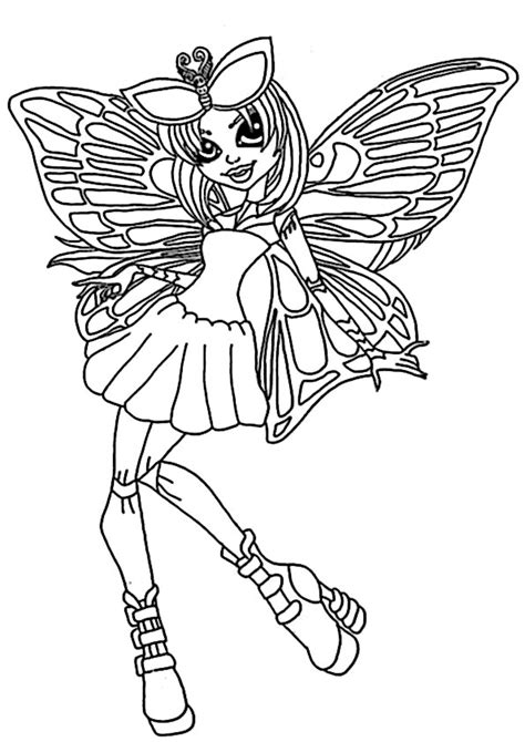 monster high luna mothews coloring pages coloriage luna mothews monster high 224 imprimer sur