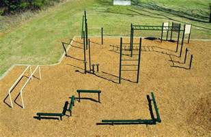 backyard fitness equipment i d like to space them out around the yard so you can jog
