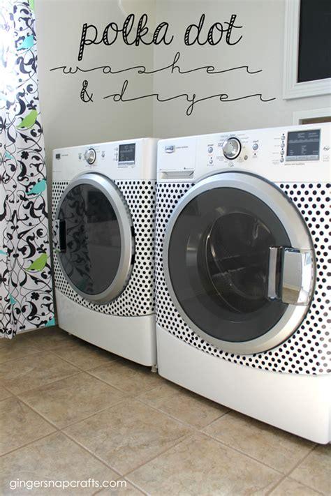 Free Washer Dryer Giveaway - ginger snap crafts polka dot washer dryer tutorial giveaway