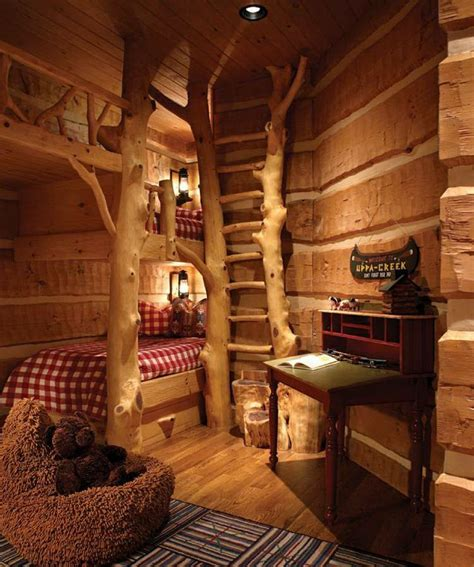 log cabin bed cabin bunk beds home design pinterest