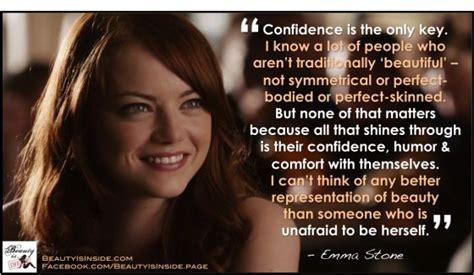emma stone quotes about beauty emma stone confidence quote emma stone pinterest i