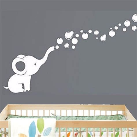 baby nursery wall decor elephant bubbles baby wall decal vinyl wall nursery room