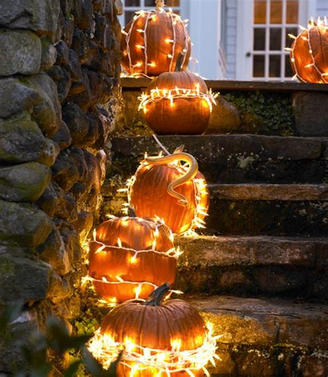 Outdoor Thanksgiving Decorations Lighted The Most Amazing 31 No Carve Pumpkin Ideas