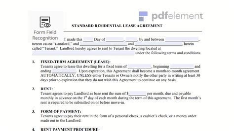 general lease agreement template residential lease agreement template free edit
