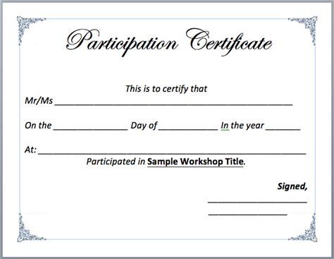 certificate format for seminar inspirational attendance training doc
