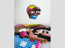 Super Mario World - Caped Mario Bead Sprite Magnet Ninja Gaiden Nes Sprite