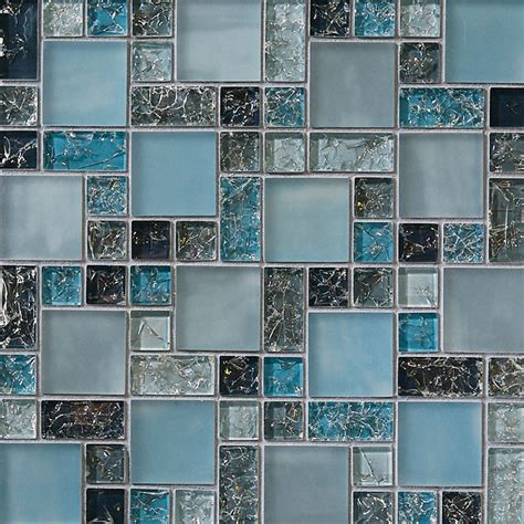frosted glass tile backsplash crackle glass tile various sized crackled glossy glass and frosted glass tile mosaic blue blend