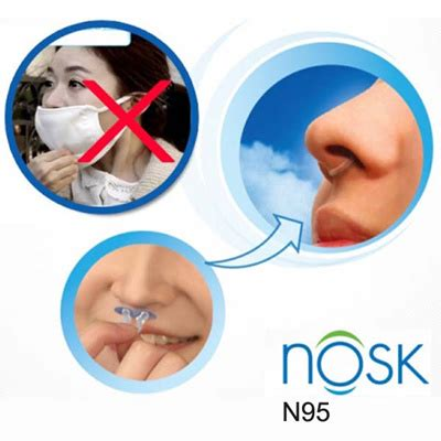 Qoo10   NOSK N95 Allergy Asthma Nose Mask HEPA Invisible