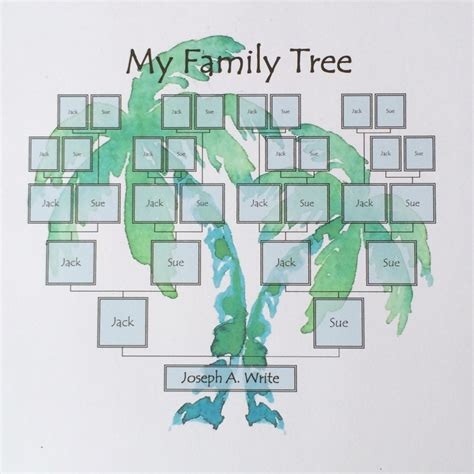 family tree template palm tree ridge light ranch