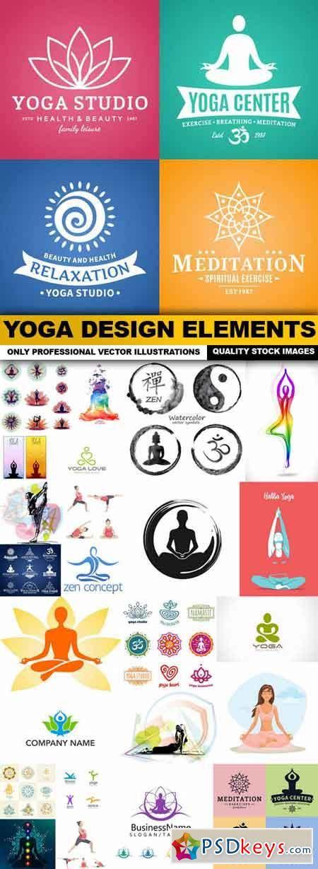water design elements 25 vector yoga design elements 25 vector 187 free download photoshop