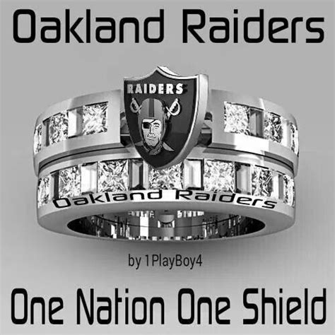 oakland raiders fan experience raiders ring love my team pinterest