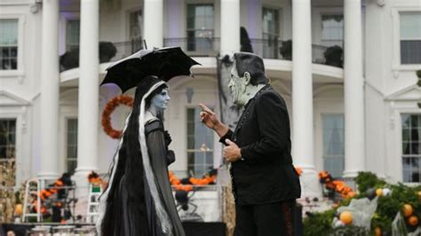 white house  spooky makeover  halloween abc news