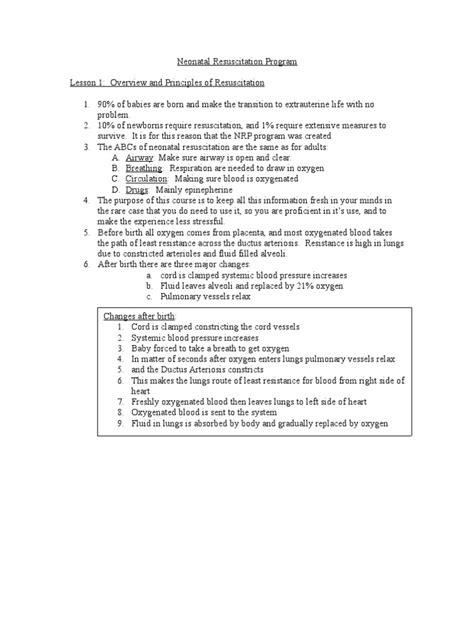 Neonatal Resuscitation Program