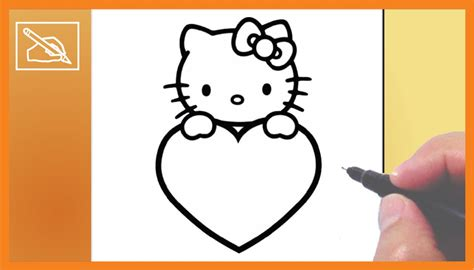 imagenes de corazones medianos c 243 mo dibujar a kitty con coraz 243 n 2 drawing kitty with